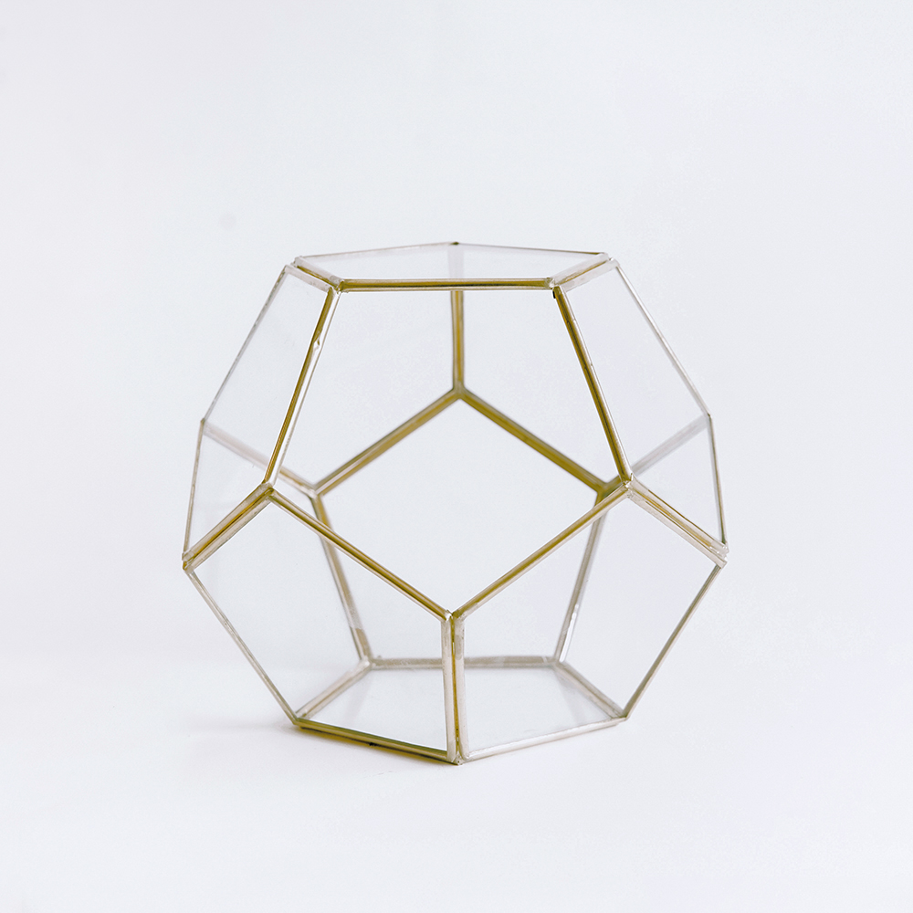Terrarium Glass #114 - Medium Gold